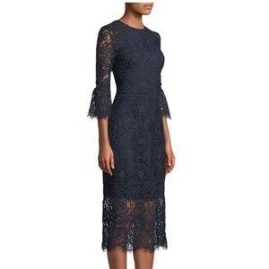NWOT Shoshanna Louisa Lace Dress w/ Trumpet Sleeve